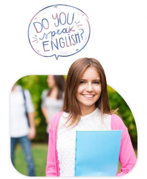 Estudiante curso extranjero inglés